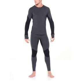 Icebreaker 260 Zone T-shirt manches longues à col ras-du-cou Homme, jet heather/black